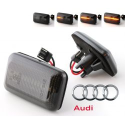 Flashing Repeaters Smoked LED DYNAMIC SCROLLING Audi 100 / 200 / A6 / 80 / 90 / Coupé / V8 / 4000