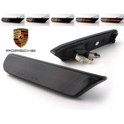 Smoked LED Paring Side Turn Signals Porsche 911 996 & Boxster 986