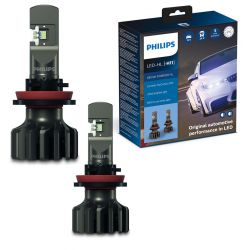 2x H11 LED Ultinon Pro9000 Philips 5800K +250% 11362U90CWX2