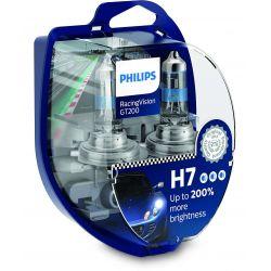 2x H7 RacingVision GT200 Philips 12972RGTS2 55W 200%