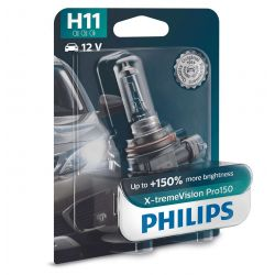 H11 X-TREMEVISION PRO150 PHILIPS - 12362XVPB1 - 55W 12V PGJ19-2