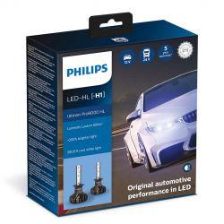 2X H1 LED ULTINON PRO9000 PHILIPS 5800K +250% 11258U90CWX2