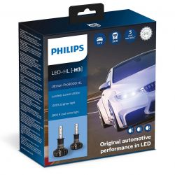 2X H3 LED ULTINON PRO9000 PHILIPS 5800K +250% 11336U90CWX2