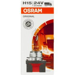 OSRAM ORIGINAL 24V 20 / 60W H15 bulb for 64177 PGJ23t-1 - 24 volts truck