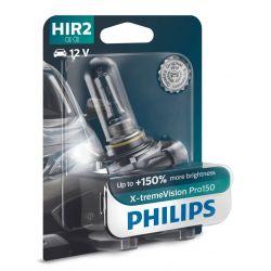 1x HIR2 9012 X-tremeVision Pro150 PHILIPS 9012XVPB1 12V 55W PX22D