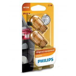 2x WY21W 12V 21W Philips Original Equipment Vision 12071B2