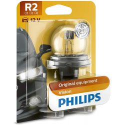 1x R2 Philips Vision 45 / 40W 12V P45t-41 lamp for front lighting 12620B1