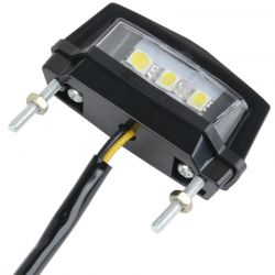 Motorcycle LED lighting module for Universal license plate - 12V Waterproof