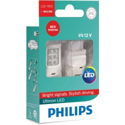 2x Ultinon W21 / 5W LED Bulbs Red Philips Signal Lamp 11066ULRX2