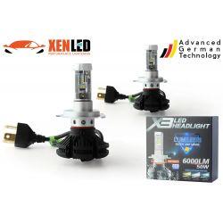 2 x bulbs h4 bi-55w LED xt3 - 6000lm - 12v / 24v