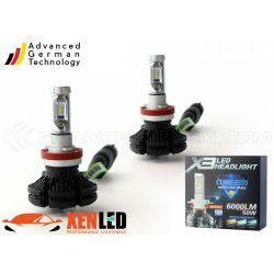 2 x 50w bulbs h8 led xt3 - 6000lm - 12v / 24v
