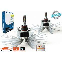 2 x 55w bulbs h16 xl6s 5202 - 4600lm - short - 12v / 24v