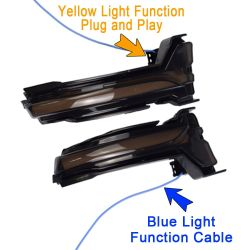 Smoked Dynamic Scrolling Retro LED Repeaters FORD Focus Mk4 from 2018
