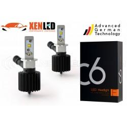 2 x h3 bulbs disaggregated c6 60w - 6000lm - 6000k - 12/24 vdc