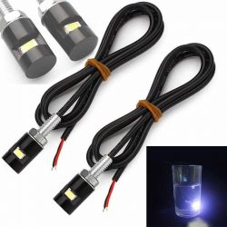 Pack of 2 Universal LED Motorcycle license plate lights - 12V