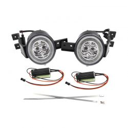 LED Flasher + LED Daytime Running Lights Halo Mini R50 R51 R52 R53 2000 to 2008 - Right + Left CANBUS