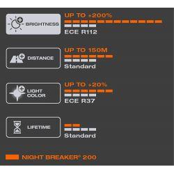 PACK OF 2 BULBS H7 NIGHT BREAKER® 200 +200% OSRAM 64210NB200-HCB - 499NB200