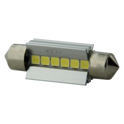 1 x BULB C5W SV8.5 36mm 6 White LEDs Super Canbus 238Lms XENLED - PALLADIUM