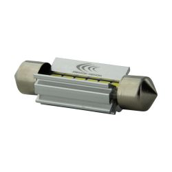 1 x BULB C7W T10.5x38 39mm 6 White LEDs Super Canbus 238Lms XENLED - PALLADIUM