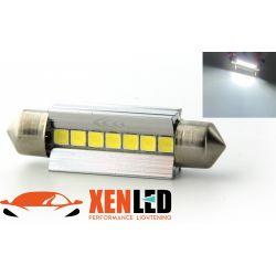 1 x BULB C10W T10.5x43 42mm 7 White LEDs Super Canbus 238Lms XENLED - PALLADIUM