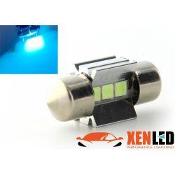 1 x BULB C3W T6.2x27 28mm 3 LED ICE BLUE Super Canbus 148Lms XENLED - PALLADIUM