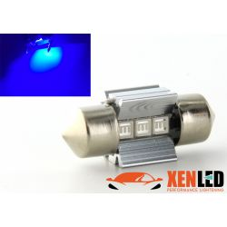 1 x BULB C3W T6.2x27 28mm 3 LED BLUE Super Canbus 60Lms XENLED - PALLADIUM