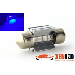 1 x BULB C3W T10,5x30 31mm 4 BLUE LED Super Canbus 60Lms XENLED - PALLADIUM