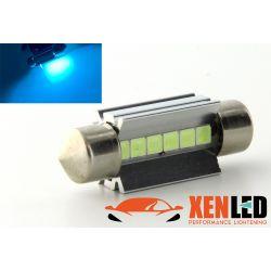 1 x BULB C7W T10.5x38 39mm 6 LED Ice Blue Super Canbus 173Lms XENLED - PALLADIUM