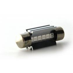 1 x BULB C7W T10.5x38 39mm 6 LED Blue Super Canbus 70Lms XENLED - PALLADIUM