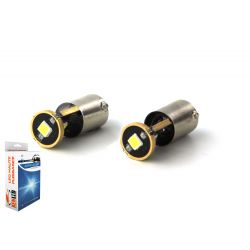 2 x BULBS H6W 3-LED Super Canbus 400Lms XENLED - GOLD - BAX9S