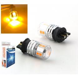 2 x Bulbs PWY24W 12-LED ORANGE Super Canbus 750Lms XENLED 24W - PALLADIUM - WP3.3x14.5/4