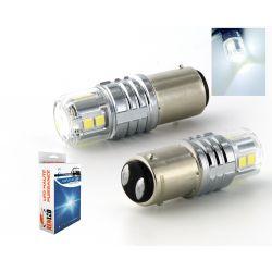 2 x BULBS P21 / 4W 12-LED Super Canbus 850Lms XENLED 21W - PALLADIUM - BAZ15D