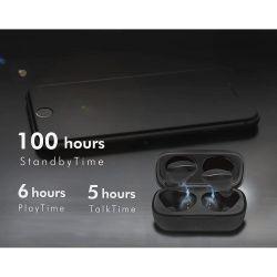 LogiLink BT0047 – True Wireless Bluetooth (Version 5.0) Écouteurs étanches IPX5 avec Fonction Mains Libres