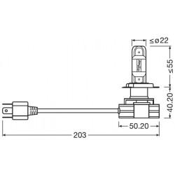 2X LEDRIVING HL H4 GEN2 12V 24V 9726CW OSRAM
