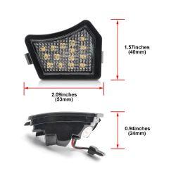 Pack 2 LED mirror lights Volvo XC90 S40 V50 C30 C70 S60 V60 S80 V70
