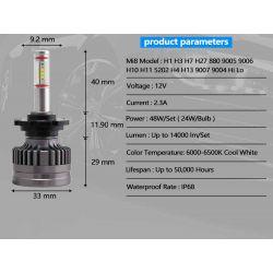 specific LED lights Kit 7 Golf MK1 / MK2 France-xenon - 2 bulbs -