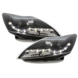 Lot 2 phares DECTANE DRL look Ford Focus 08-11_drl optic_black