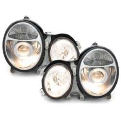 headlights Mercedes Benz W210 E class 95-98_chrome