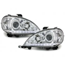 DECTANE DRL look headlight Mercedes Benz W163 ML 02-04_chrome