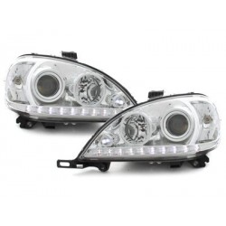 DECTANE DRL look headlight Mercedes Benz W163 M 98-01_chrome