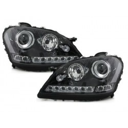 DECTANE DRL look headlight Mercedes Benz W164 M 05-08_black
