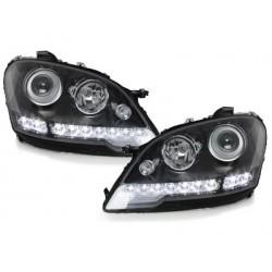 Lot 2 phares DECTANE DRL look Mercedes Benz W164 M 08+_black