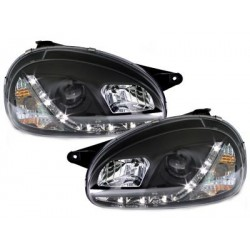 DECTANE DRL look headlight Opel Corsa B 3/5D_drl optic_black