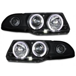 headlights Opel Astra F 95-98_2 halo rims_black