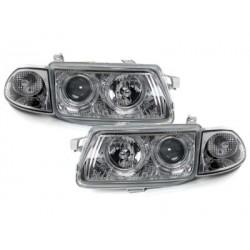 headlights Opel Astra F 91-98_2 halo rims_chrome