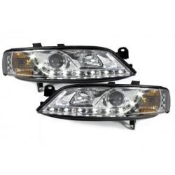 Lot 2 phares DECTANE Opel Vectra B 96-98_daytime running light_chrome