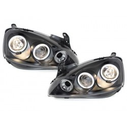 headlights Opel Corsa C 01-06_2 CCFL halo rims_black