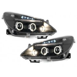 Lot 2 phares Opel Corsa D 06+_2 halo rims_black