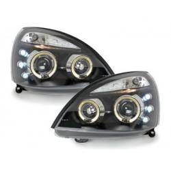 Lot 2 phares Renault Clio MK3 01-05_2 halo rims_black