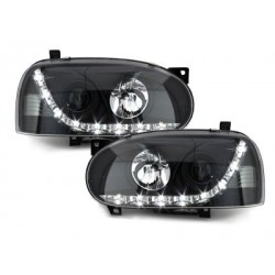 LOT 2 PHARES DECTANE DRL look VW Golf III 92-98_drl optic Noir